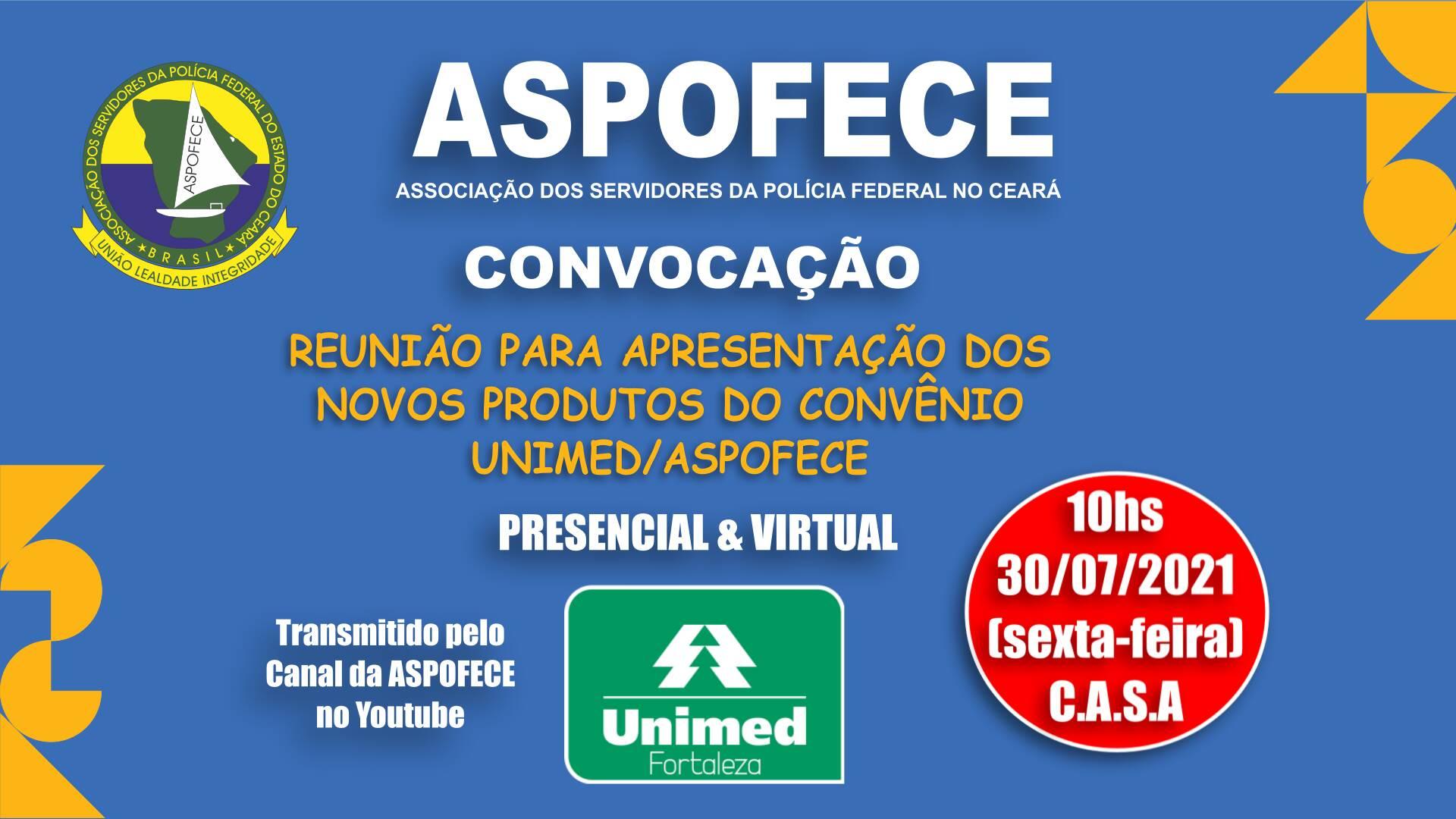 Reunião de apresentação dos novos planos do convênio ASPOFECE/UNIMED